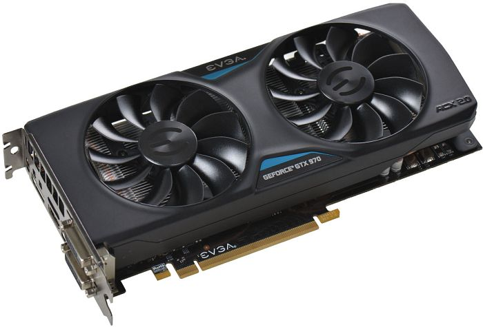 EVGA GeForce GTX 970 ACX 2.0, 4GB GDDR5, 2x DVI, HDMI, DisplayPort (04G-P4-2972-KR)