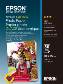 Epson S400038 Value Glossy photo paper 10x15, 183g/m², 50 sheets (C13S400038)
