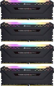 Corsair Vengeance RGB PRO schwarz DIMM Kit 32GB, DDR4-3600, CL18-19-19-39 (CMW32GX4M4C3600C18)