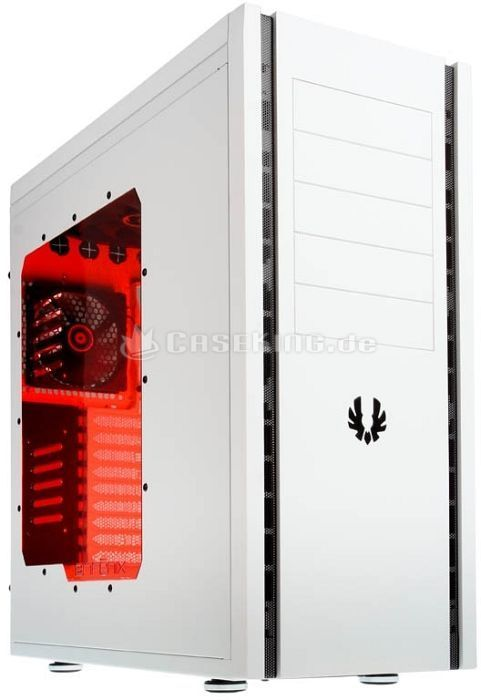 BitFenix Shinobi XL white with side panel window, noise-insulated -- © caseking.de