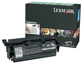 Lexmark Return labels Toner T650H04E black high capacity