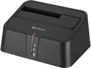 Sharkoon SATA Quickport XT black, USB 2.0/eSATA (4044951011018)
