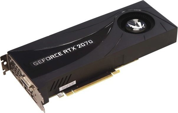 Zotac Gaming GeForce RTX 2070 Blower, 8GB GDDR6, DVI, HDMI, 3x DP (ZT-T20700A-10P)