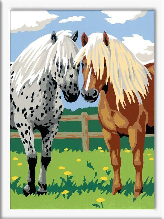 Ravensburger Malen Nach Zahlen Glückliche Pferde 28180