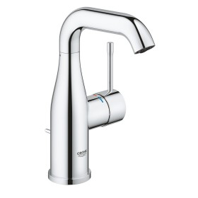 """Grohe Essence one-hand-bathroom sink tap 1/2"""" M-Size with drain remote chrome (23462001)"""
