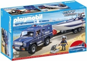 playmobil City Action - Police Truck with Speed <wbr><wbr>Boat (5187)