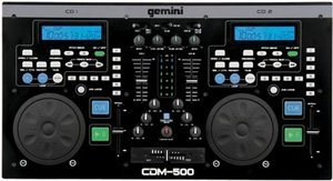 Gemini CDM-500 double CD player (incl. Mixer)
