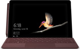 Microsoft Surface Go 128GB, 8GB RAM, Windows 10 S + Signature Type Cover Bordeaux rot