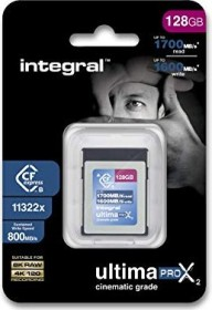 Integral ultima PRO X2 Cinematic R1700/W1600 CFexpress Type B 128GB (INCFE128G1700/1600/S800)