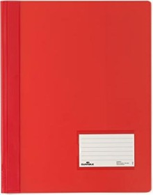 Durable Transluzent Schnellhefter A4, rot (268003)