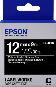 Epson LK-4BWV label-making tape 12mm, white/black (C53S654009)