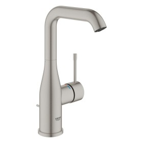 """Grohe Essence one-hand-bathroom sink tap 1/2"""" L-Size with drain remote supersteel (32628DC1)"""