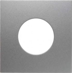 Berker centre plate for pushbutton/light signal E10, aluminum matte (11241404)