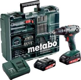 Metabo BS 18 set cordless screw driller incl. case + 2 Batteries 2.0Ah + Accessories (602207880)