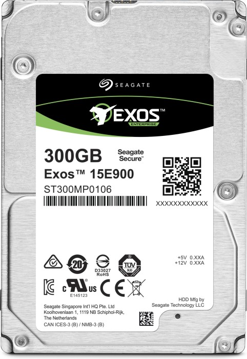 Seagate Exos E 15E900 300GB, 512n, SAS 12Gb/s (ST300MP0006)