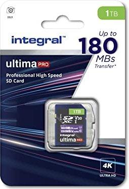 Integral ultima PRO R180/W150 SDXC 1TB, UHS-I U3, Class 10 (INSDX1TB-180/150V30) -- via Amazon Partnerprogramm