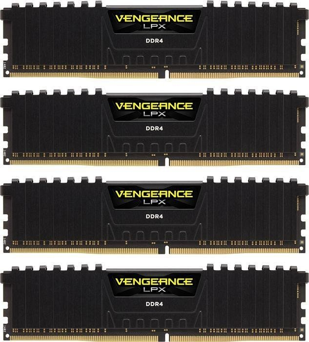 Corsair Vengeance LPX schwarz DIMM Kit 64GB, DDR4-3000, CL16-20-20-38 (CMK64GX4M4D3000C16)