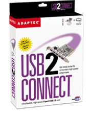 Adaptec AUA-5100 USB2Connect, 6-Port USB 2.0, PCI, retail (1923400)