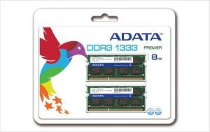 ADATA SO-DIMM Kit   8GB, DDR3-1333, CL9 (SU3S1333C4G9-2/AD3S1333C4G9-2)