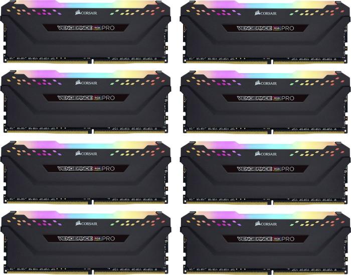 Corsair Vengeance RGB PRO schwarz DIMM Kit 128GB, DDR4-3200, CL16-18-18-36 (CMW128GX4M8C3200C16)