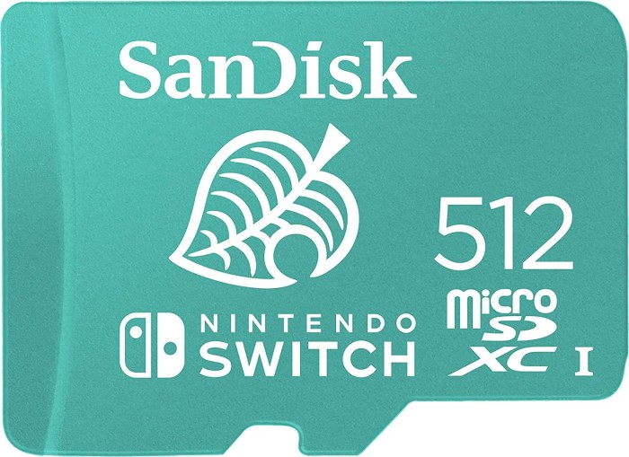 SanDisk Nintendo Switch R100/W90 microSDXC 512GB, UHS-I U3, Class 10 (SDSQXAO-512G-GNCZN)