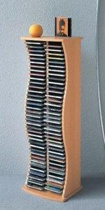 VCM Atlantic für 150 CD`s Schwarz (CD+DVD Rack)