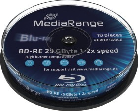 MediaRange BD-RE 25GB 2x, 10-pack Spindle (MR501)