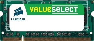Corsair ValueSelect SO-DIMM 1GB, DDR2-800, CL5-5-5-18 (VS1GSDS800D2)
