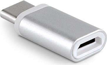 MLine Adapter Micro USB auf USB C silber (HADAPTERUSBC)