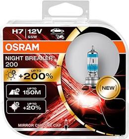Osram Night breaker 200 H7 55W, 2-pack Box (64210NB200-HCB)