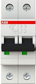 ABB Sicherungsautomat S200M, 2P, B, 10A (S202M-B10)