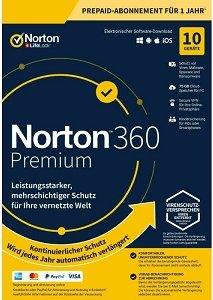 NortonLifeLock Norton 360 Premium, 10 User, 1 Jahr (deutsch) (Multi-Device) (21394925) -- von stoffel.de