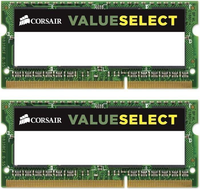 Corsair ValueSelect SO-DIMM Kit 16GB, DDR3L-1600, CL11-11-11-28 (CMSO16GX3M2C1600C11)
