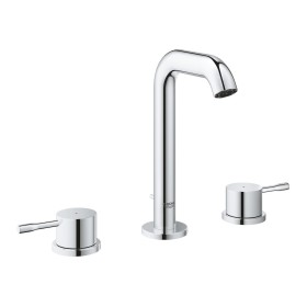 """Grohe Essence 3-hole bathroom sink tap 1/2"""" M-Size with drain remote chrome (20296001)"""
