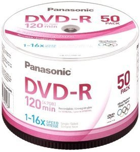 Panasonic DVD-R 4.7GB 16x, 50-pack Spindle (LM-RS120NE50)