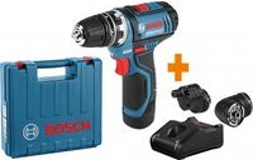 Bosch Professional GSR 12V-15 FC FlexiClick Akku-Bohrschrauber inkl. Koffer + Akku 2.0Ah + Zubehör (06019F600A)