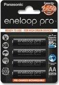 Panasonic eneloop pro (Gen 2) Mignon AA NiMH 2450mAh, 4er-Pack (BK-3HCCE/4BE)