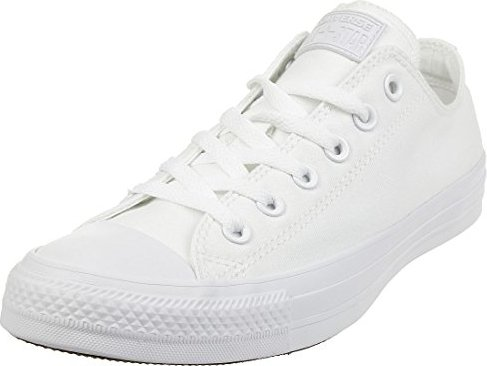 Chuck Taylor All Star, Unisex Adults Low-Top Sneakers, White (Monocrom), 11.5 UK (46 EU) Converse