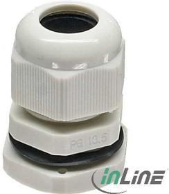 InLine Kabeldurchführung PG 7 Nylon IP68 3,5-6mm, 10 Stück, grau (44010)
