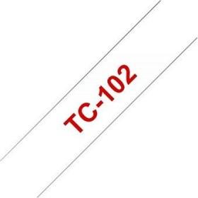 Brother TC-102 12mm, transparent auf rot (TC102)
