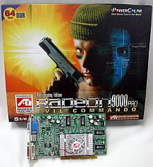PowerColor Evil Commando, Radeon 9000 Pro, 64MB DDR, DVI, TV-out, AGP (275/275MHz) (RV2A-B3)
