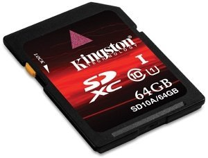 Kingston SDXC 64GB, Class 10 (SD10A/64GB)