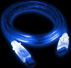 Various USB 2.0 LED cable A/B blue/blue 1.8m/2.0m