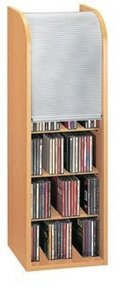 VCM pull-down-tower for 150 CD`s beech/silver