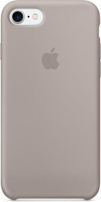 apple silikon case f r iphone 7 kieselgrau mq0l2zm a ab. Black Bedroom Furniture Sets. Home Design Ideas