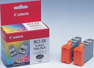 Canon BCI-24C ink coloured, 2-pack (6882A009)