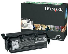 Lexmark Return Toner X651A11E schwarz