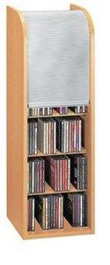 VCM Rollo-Turm für 150 CD`s Schwarz/Silber