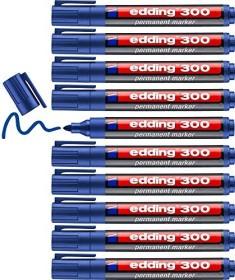 edding 300 Permanentmarker blau, 10er-Pack (4-300003#10)