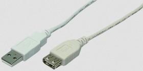 LogiLink USB-A 2.0 [Stecker] auf USB-A 2.0 [Buchse], 1.8m (CU0010)